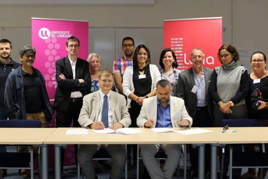 Signature d'un protocole d'entente universitaire avec le Brésil (photo Loria)