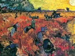 Vincent van Gogh, _La vigne rouge », l'un des deux seuls tableaux que le peintre ait vendu de son vivant. Wikipédia, CC BY-SA