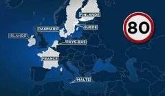 Limitation à 80 km/h sur certaines routes secondaires dès le 1er juillet 2018 (EuroNews)