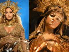 Beyoncé à gauche, la Vierge Marie, à droite (photo The Conversation)