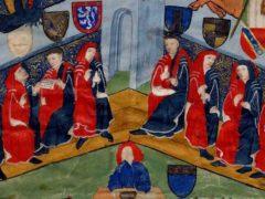 Les capitouls de Toulouse en 1440-1441. Chronique 135 de l'année 1440-1441 : la porte de Pouzonville. Feuillet parchemin, latin, 26,5 x 38 cm. Ville de Toulouse, Archives municipales, BB273/9.