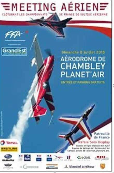 Grand meeting aérien à Chambley-Bussières du 2 au 8 juillet 2018