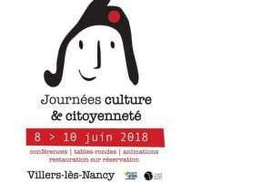 Culture et Citoyenneté à Villers-lès-Nancy du 8 au 10 juin 2018 (affiche)