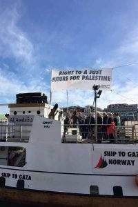 Départ de la flottille de l'Europe du Nord (ONG pour la Palestine)