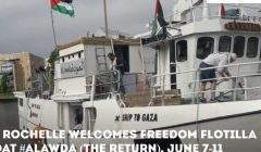 Escale à La Rochelle du 7 au 11 juin 2018 (image plateforme ONG pour la Palestine)
