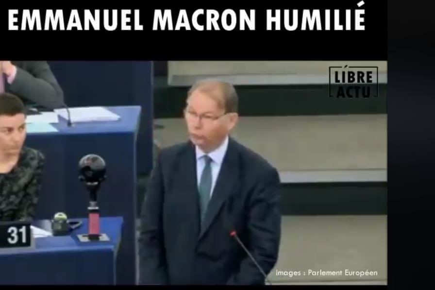 Sale quart d'heure pour Macron au Parlement européen