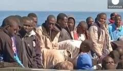 Migrants en Méditerranée (capture Euronews)
