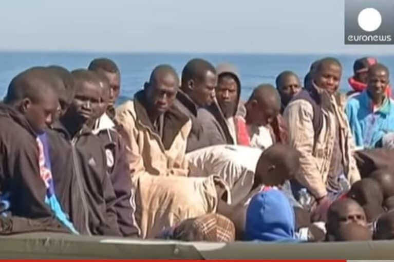 Migrants en Méditerranée (capture Euronews)