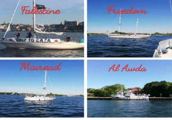 Quatre bateaux pour la Palestine (images de la plateforme des ONG pour la Palestine)