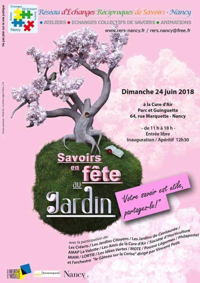 Les savoirs en fête, 24 juin à la Cure d'Air de Nancy (affiche)