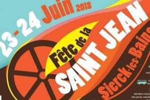 Grandes festivités pour la Saint-Jean à Sierck les 23 et 24 juin 2018 (Affiche)