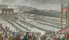 Fédération générale des Français au Champ de Mars, le 14 juillet 1790 : / Dessiné par C. Monet, ; gravé par Helman, de l'Académie des Arts de Lille en Flandre. Wikipédia / BnF