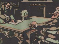 Caricature de Caran d'Ache « Wilson et le wilsonisme ». Gallica BnF