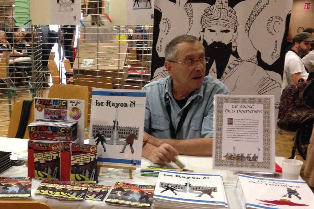 Charles Ancé (auteur de BD historiques) (Photo fournie par l'auteur)