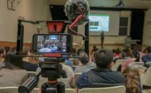 Enregistrement d'une conférence à l'Université de Californie à Berkeley.