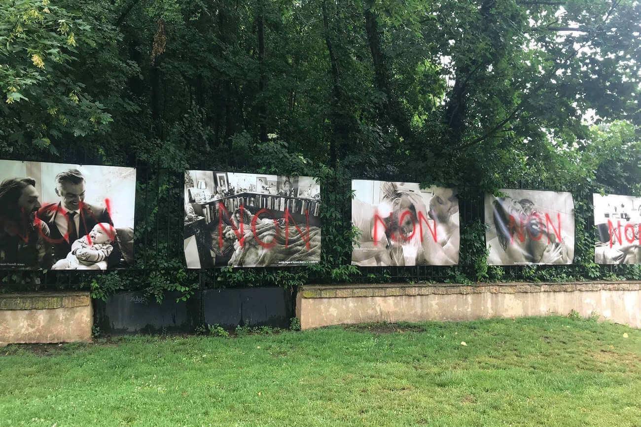 Les oeuvres d'Olivier Ciappa vandalisées à Metz (Photo LDH)