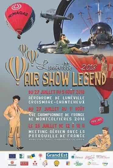 44ème Championnat de France de montgolfières à Lunéville (l'affiche)
