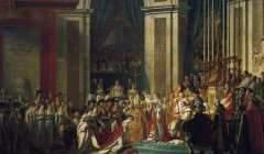 « Sacre de l'empereur Napoléon Ier et couronnement de l'impératrice Joséphine dans la cathédrale Notre-Dame de Paris, le 2 décembre 1804 », par Jacques-Louis David.