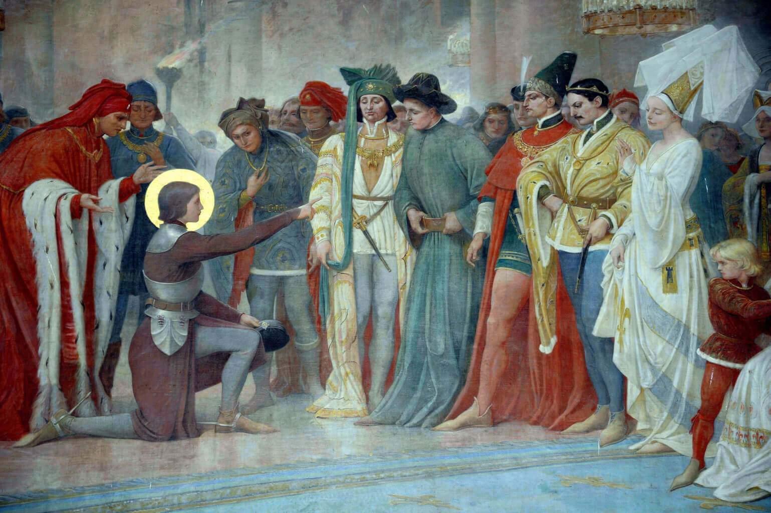 Jeanne à Chinon reconnaît le roi parmi ses courtisans (Photo DR)