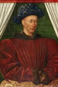 Portrait de Charles VII, par Jean Fouquet, vers 1445 ou 1450, musée du Louvre, inv. 9 106.