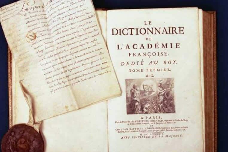 Dictionnaire de l'Académie française (photo site de l'Académie française)