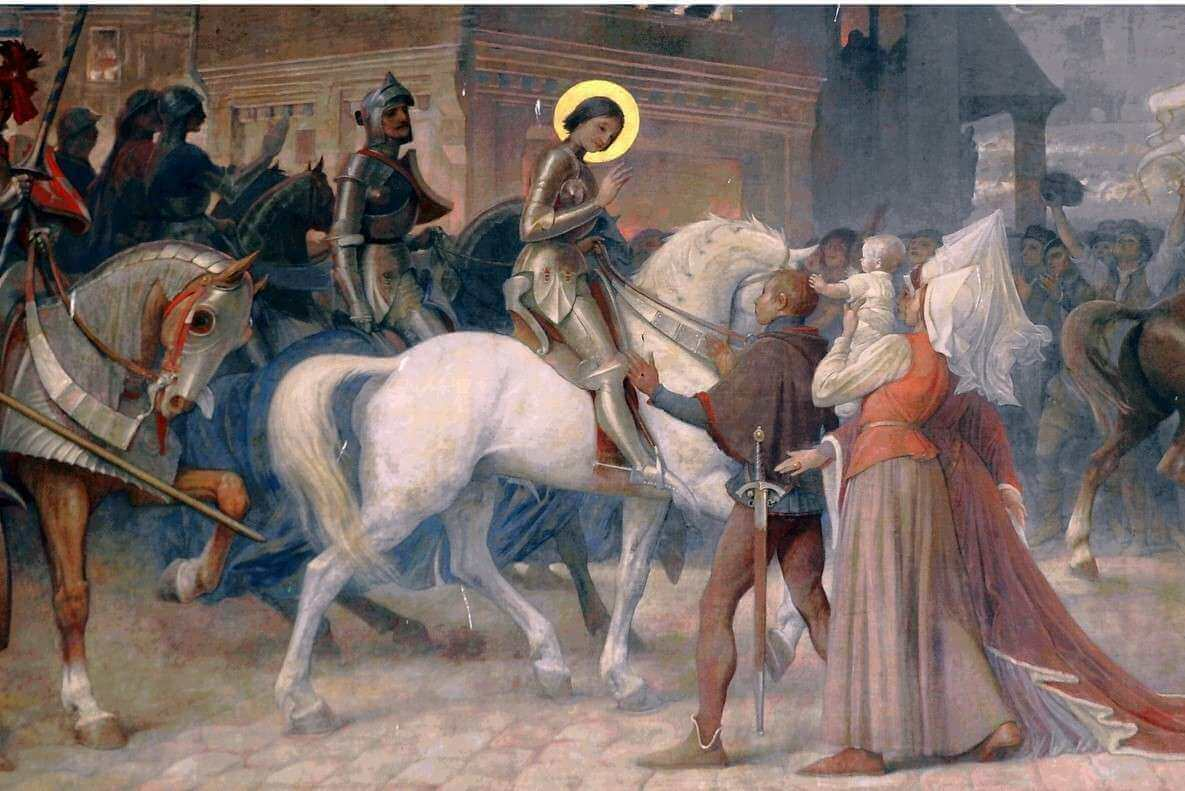 Jeanne fut un mythe vivant dès le 15ème siècle (fresque de la basilique de Domrémy, (DR)