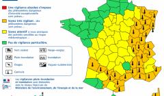 34 départements en vigilance orange canicule en ce 2 août 2018 (carte météo france)