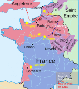 Le royaume de France vers 1429