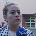 Ahed Tamini, jeune palestinienne, a fait huit mois de prison en Israël (capture Euronews)