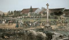 Evoquant une grande bataille qui s'est déroulée au début de la guerre de 1870, le Panoroma de Rezonville a été réalisé par le peintre français Alphonse de Neuville