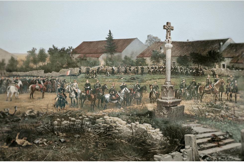 Evoquant une grande bataille qui s'est déroulée au début de la guerre de 1870, le Panorama de Rezonville a été réalisé par le peintre français Alphonse de Neuville
