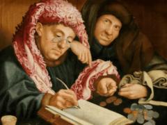 D'après Marinus van Reymerswale (1490–1546), Le collecteur d'impôts. Yelkrokoyade/Wikimedia, CC BY-NC
