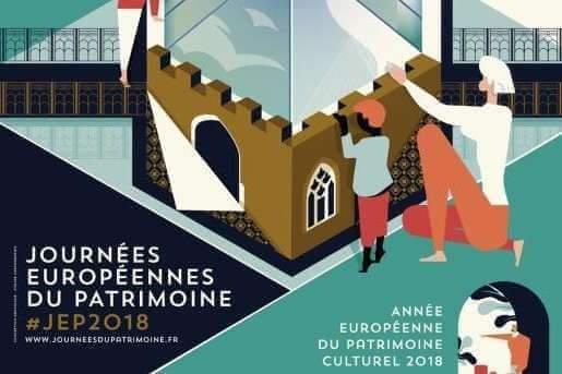 Les journées européennes du patrimoine 2018 dans le Grand Est (affiche)