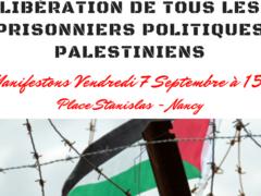 Palestine: manifs à Nancy et Vandœuvre (affiche)