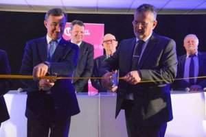 Bernard Charlès et Pierre Mutzenhardt inaugurant les locaux de l'UFR MIM (photo Factuel U.L.)