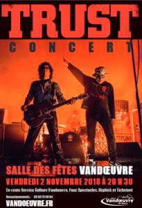 Trust : concert le 2 novembre 2018