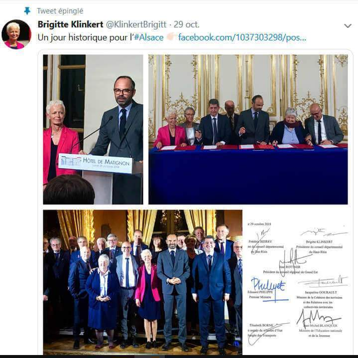 Signature à Matignon (capture tweet Brigitte Klinkert)