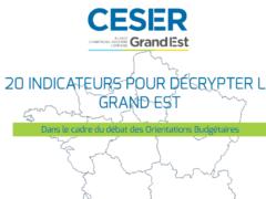 CESER Grand Est : 20 indicateurs pour décrypter la région