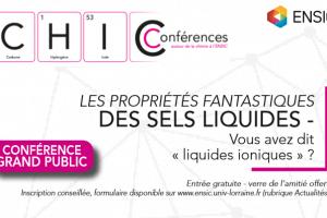 ENSIC: des conférences sur la chimie (affiche)