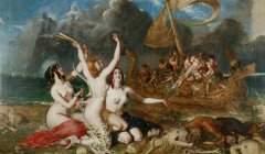 Ulysse et les sirènes, par William Etty, 1837. Wikipédia