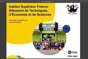 Institut Supérieur Franco-Allemand de Techniques, d'Economie et de Sciences- ISFATES- Metz