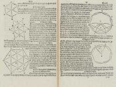 Premier manuel de géométrie en langue française publié en 1511 par Charles de Bovelles (1478 - 1567), sous le titre Géométrie en francoys (Collections Aristophil)