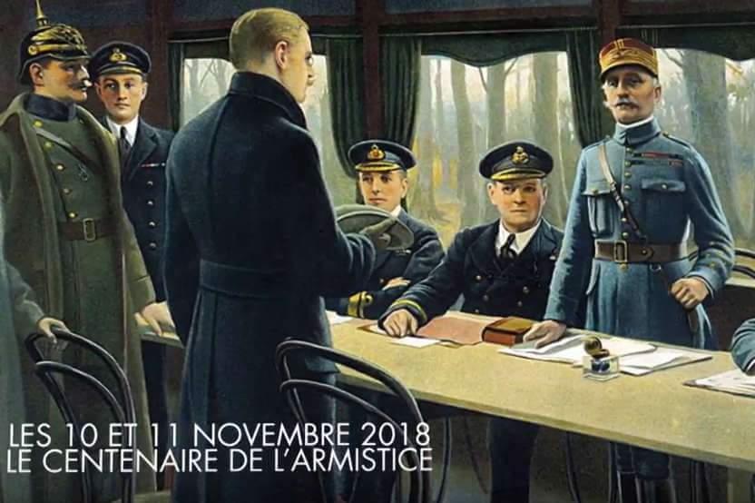 Signature de l'Armistice du 11 novembre 1918 (Mission du Centenaire)