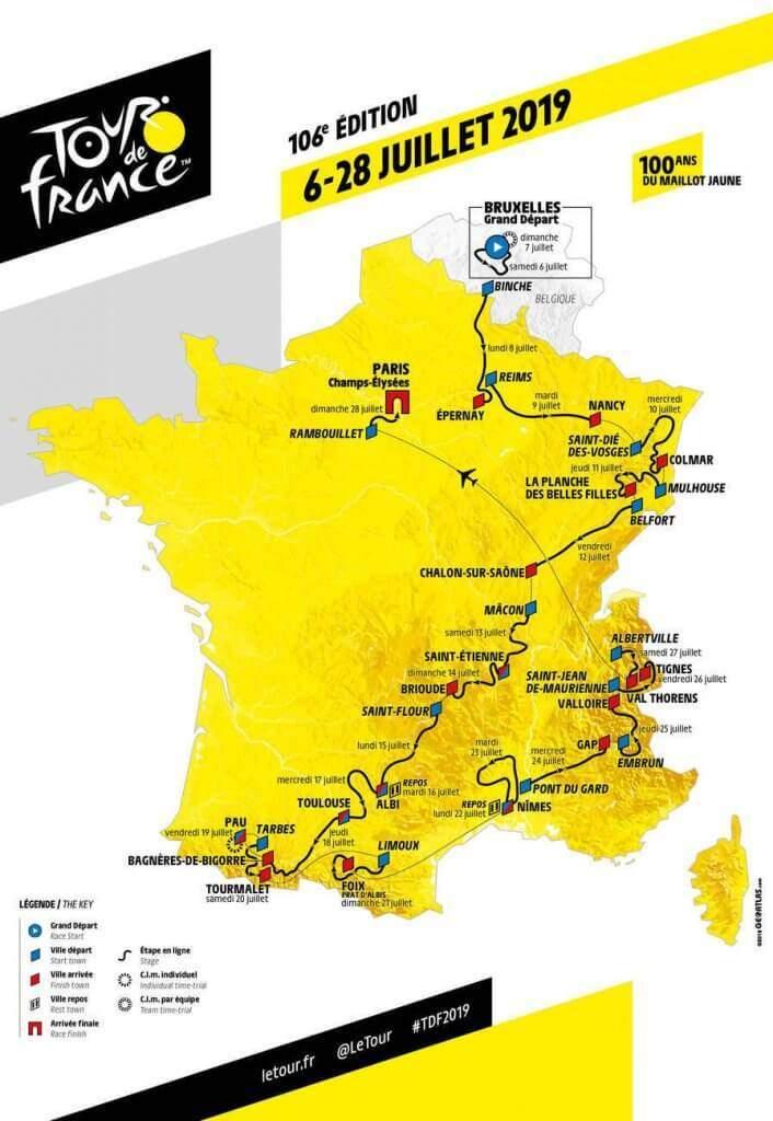 Le Grand Est dans la Grande boucle du tour de France (photo officielle tour de France)