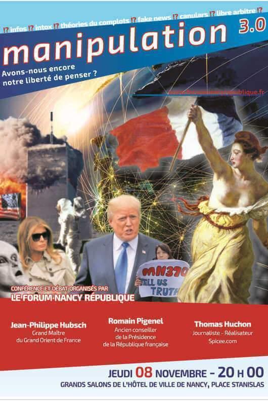 Une conférence sur le journalisme 3.0 et la manipulation (affiche FNR)