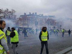 Manif des gilets jaunes à Paris le 24 novembre 2018 (photo Madeline Proust)