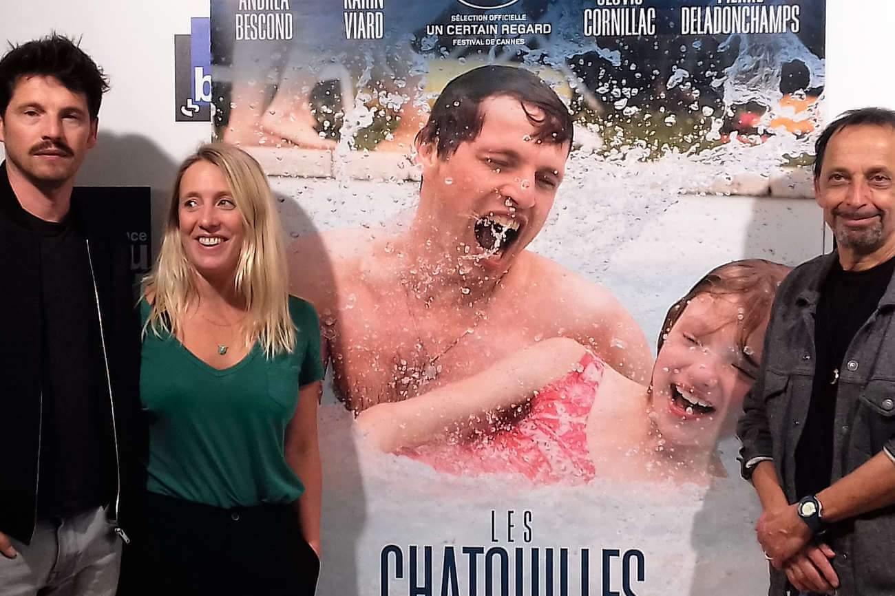 L'acteur Pierre Deladonchamps et les co-réalisateurs, Andréa Bescond et Eric Métayer, lors de l'avant-première du film à Nancy.