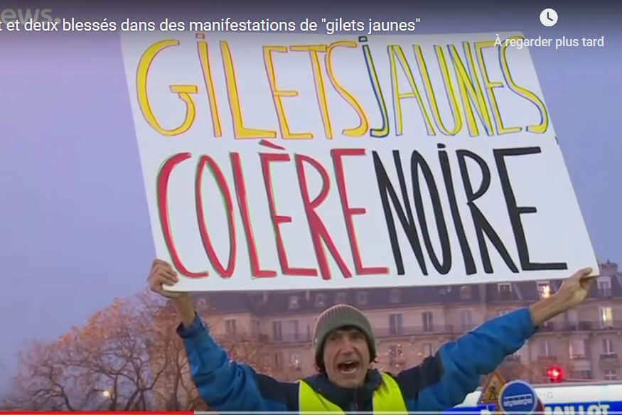 Gilets jaunes : des incidents partout en France