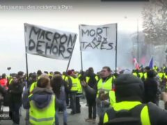 Gilets jaunes à Paris : des incidents dès le début (capture Euronews)
