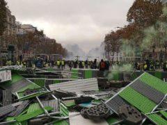 Gilets jaunes, manif à Paris le 24 novembre 2018 (photo Madeleine Proust)